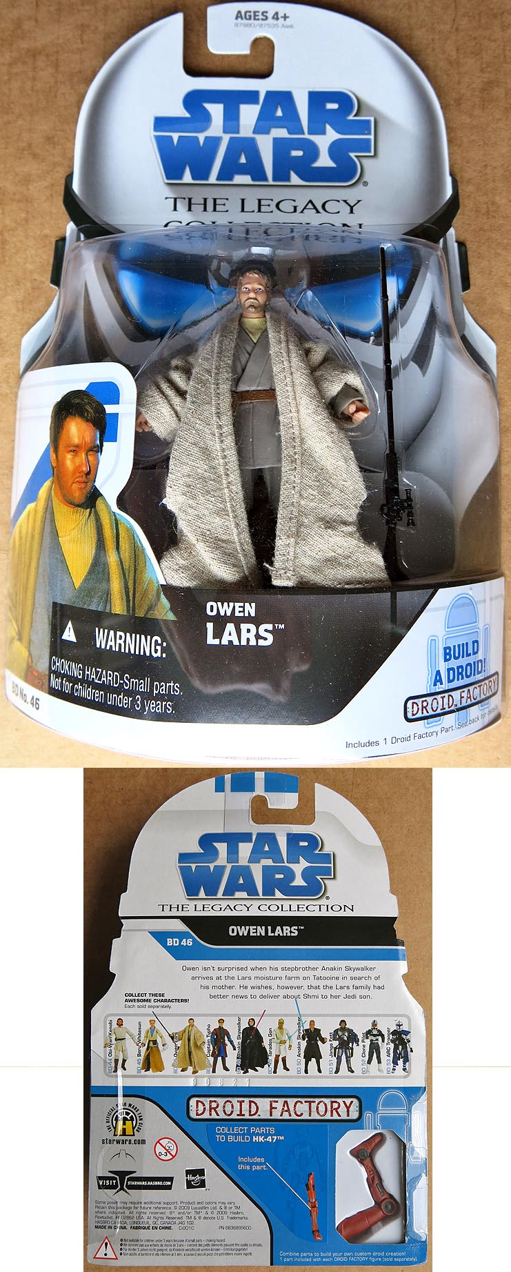 Star Wars The Legacy Collection Owen Lars BD 46