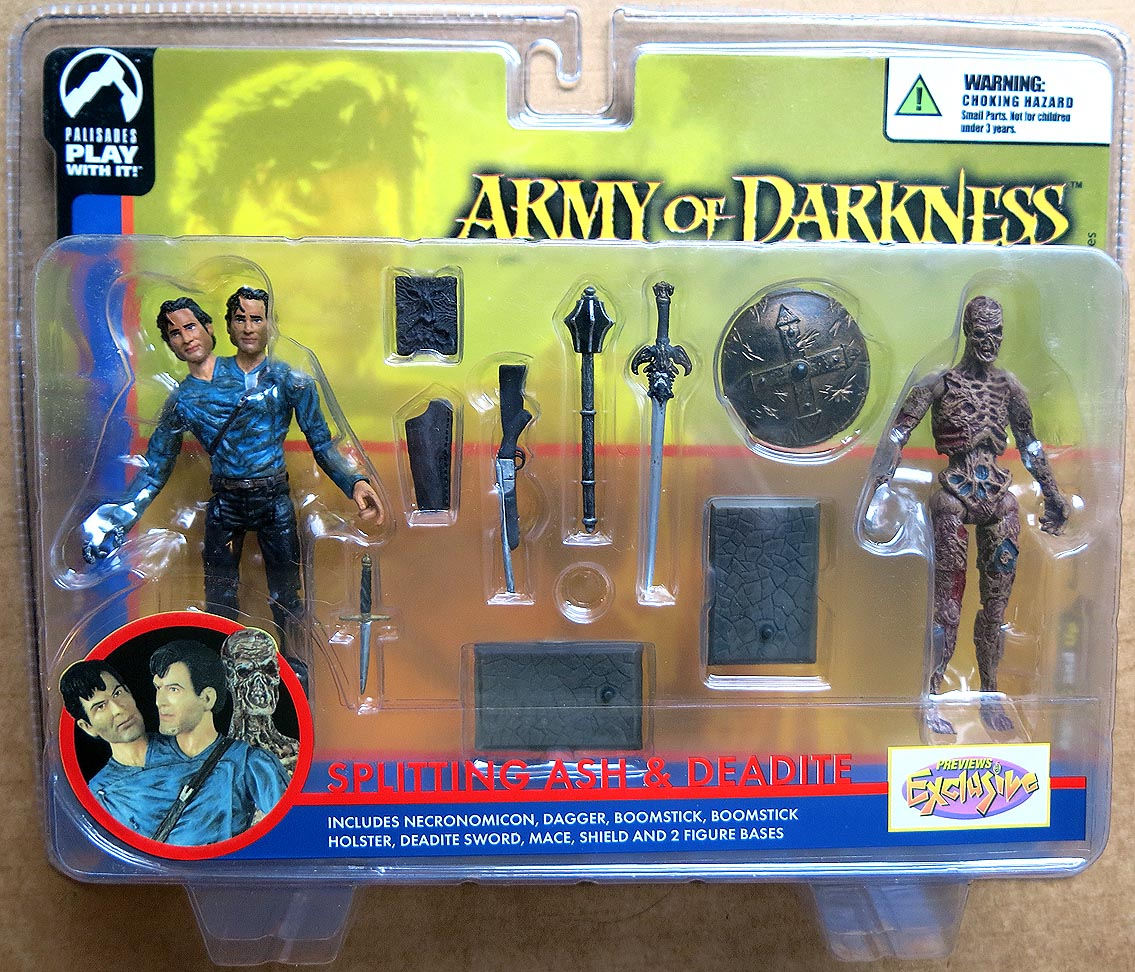 Army Of Darkness Splitting Ash And Deadite Action Figures (Previews Exclusive)