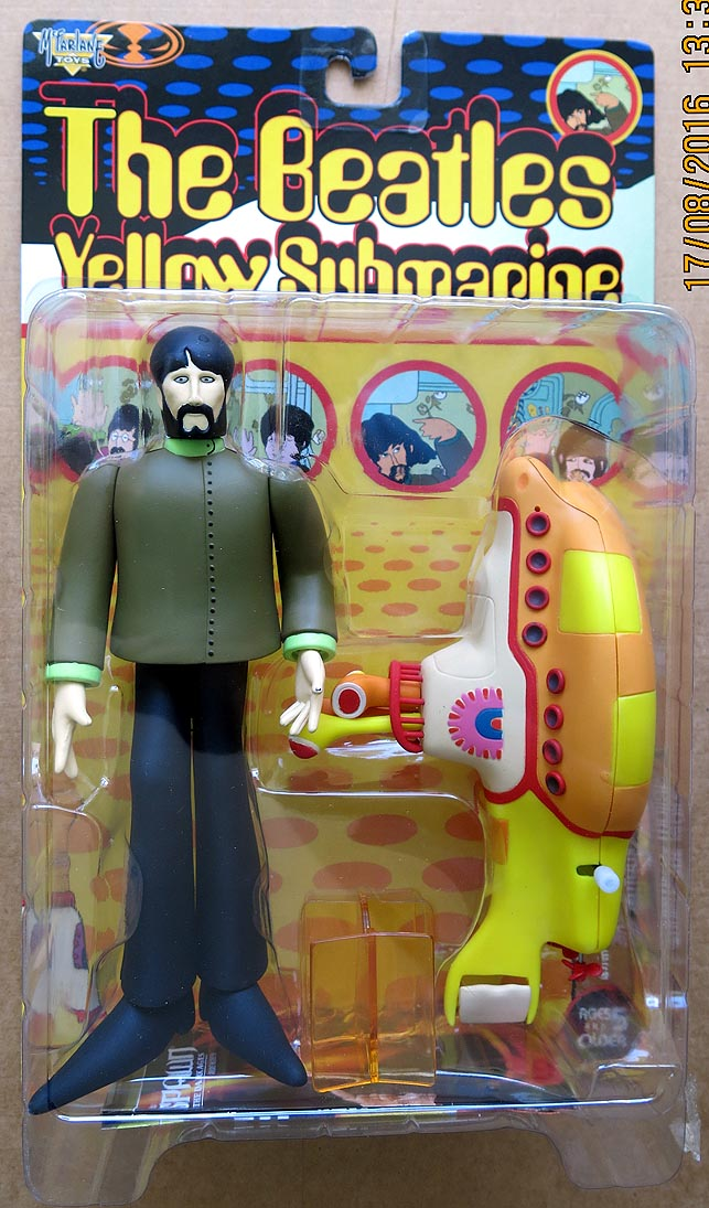 Beatles Yellow Submarine George With Yellow Submarine Action Figure