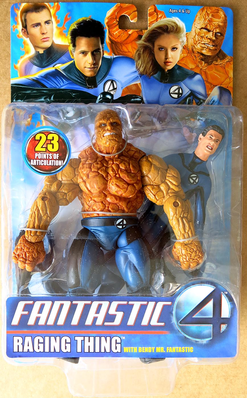 Fantastic Four Movie Raging Thing & Mr Fantastic Action Figure