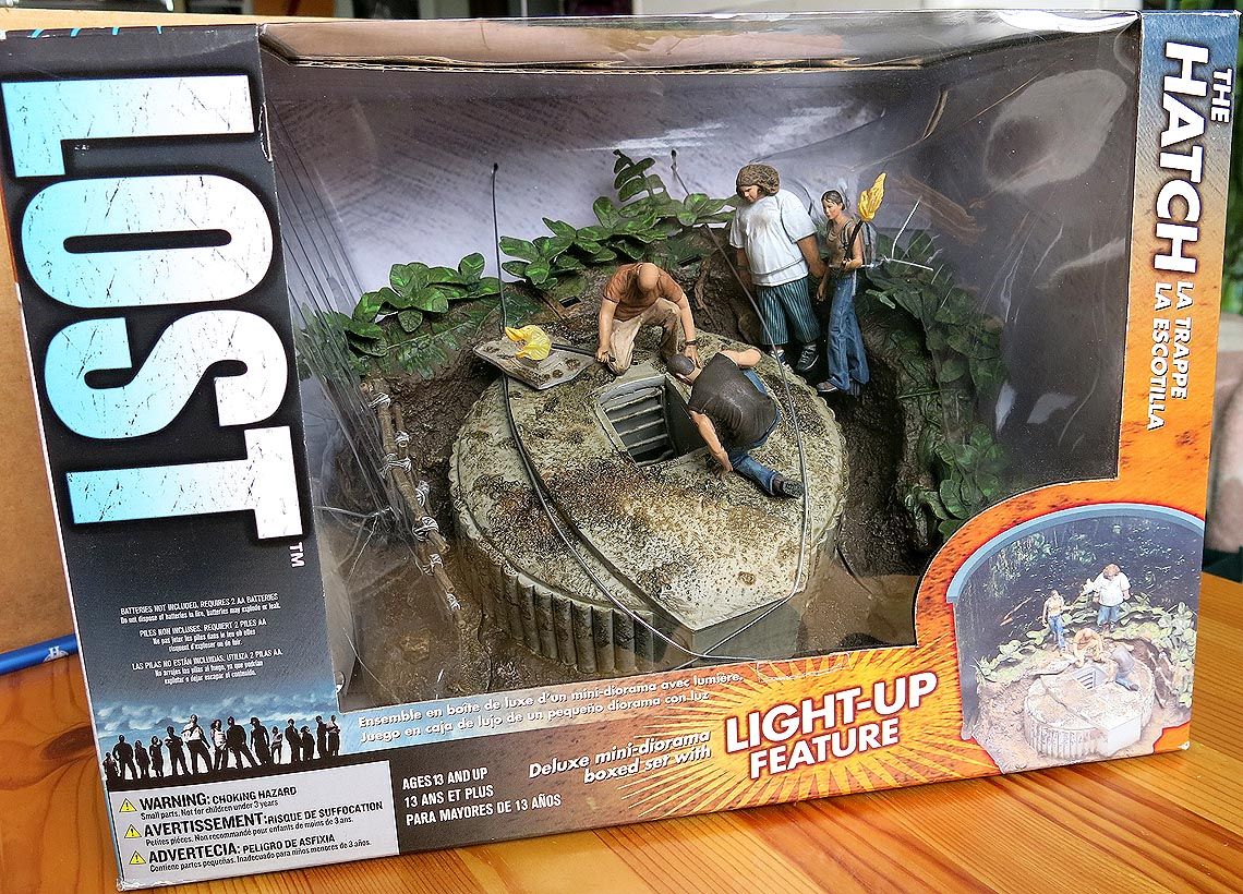 Lost Deluxe Mini-Diorama The Hatch Boxed Set