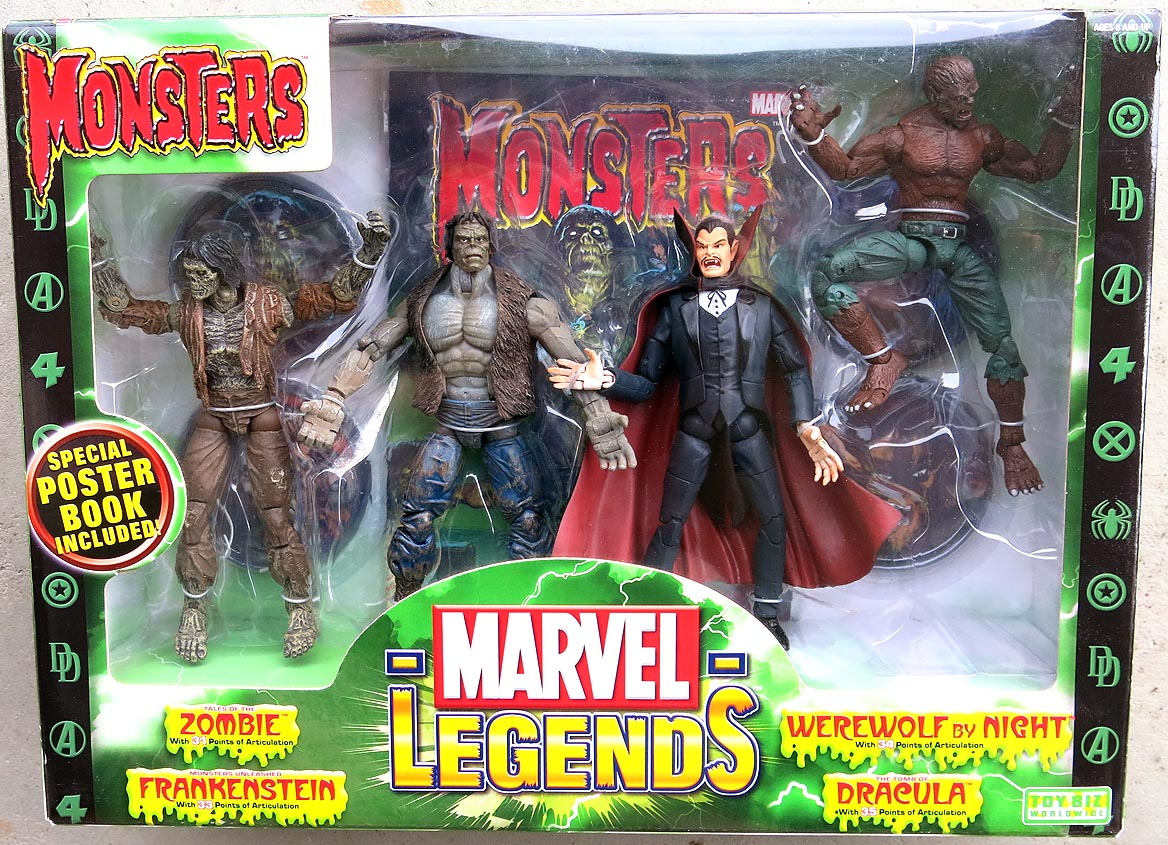 Marvel Legends Monsters 4 Pack Action Figures With Poster Book