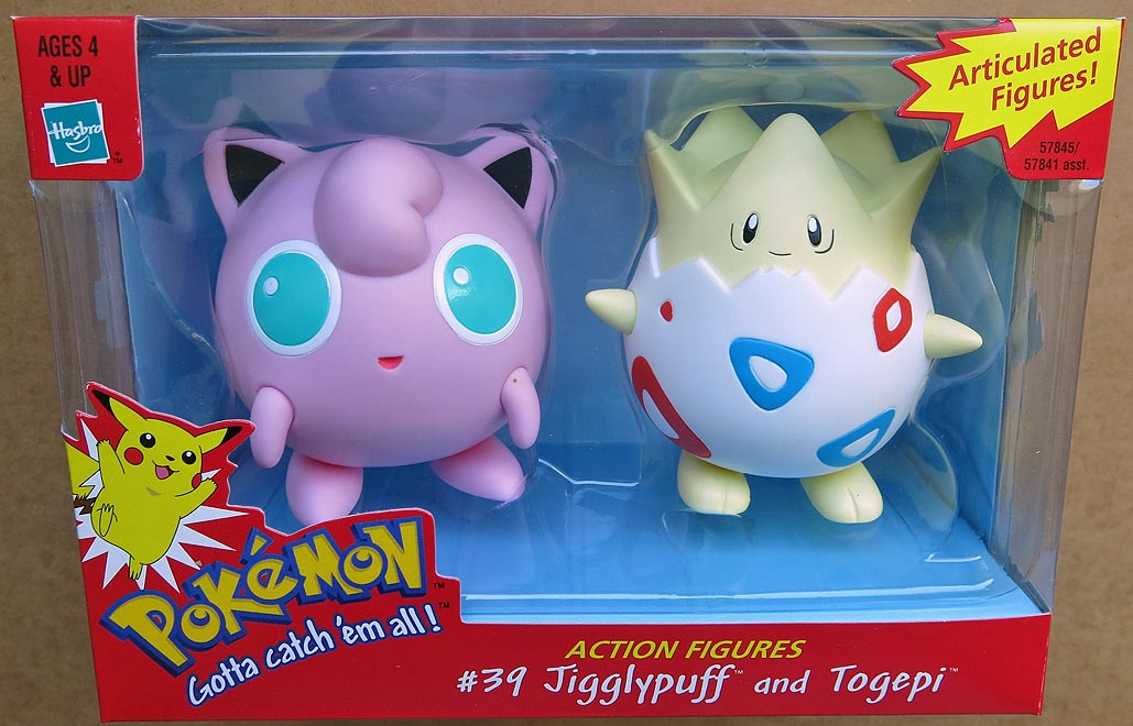 Pokemon Articulated Figure 2 -pack Topegi And Jigglypuff