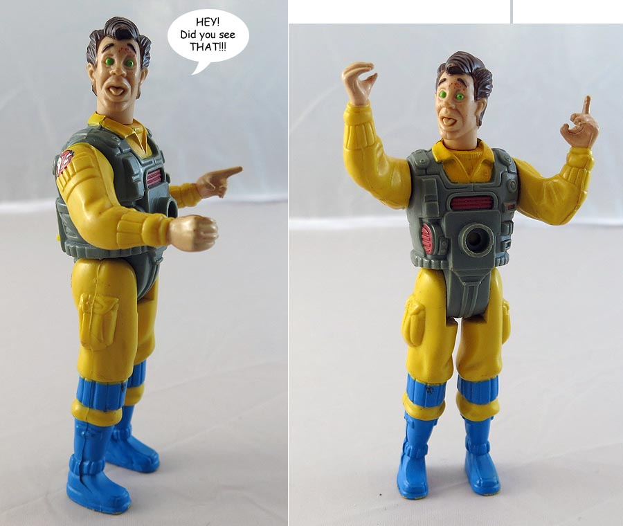 Real Ghostbusters Screaming Heroes Peter Venkman Action Figure (bag 14 )