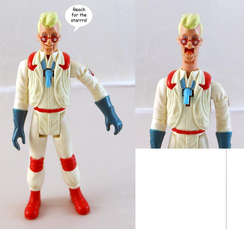 Real Ghostbusters With Fright Features Egon Spengler Action Figure (bag 58 )