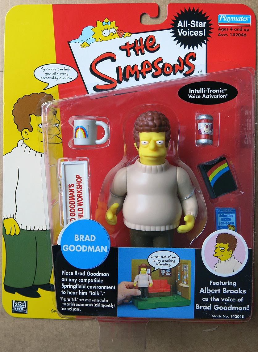 Simpsons Celebrity Figures Series 2 Brad Goodman Action Figure