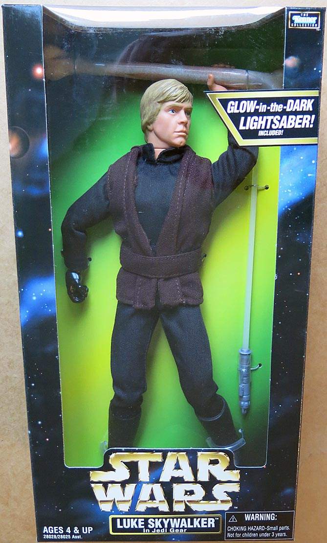 Star Wars 12 Inch Luke Skywalker In Jedi Gear Boxed Figure