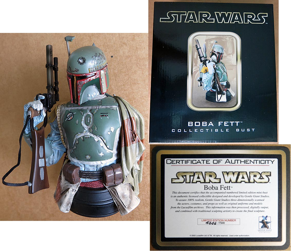 Star Wars Boba Fett Limited Edition Bust ( 5006 of 7500 )