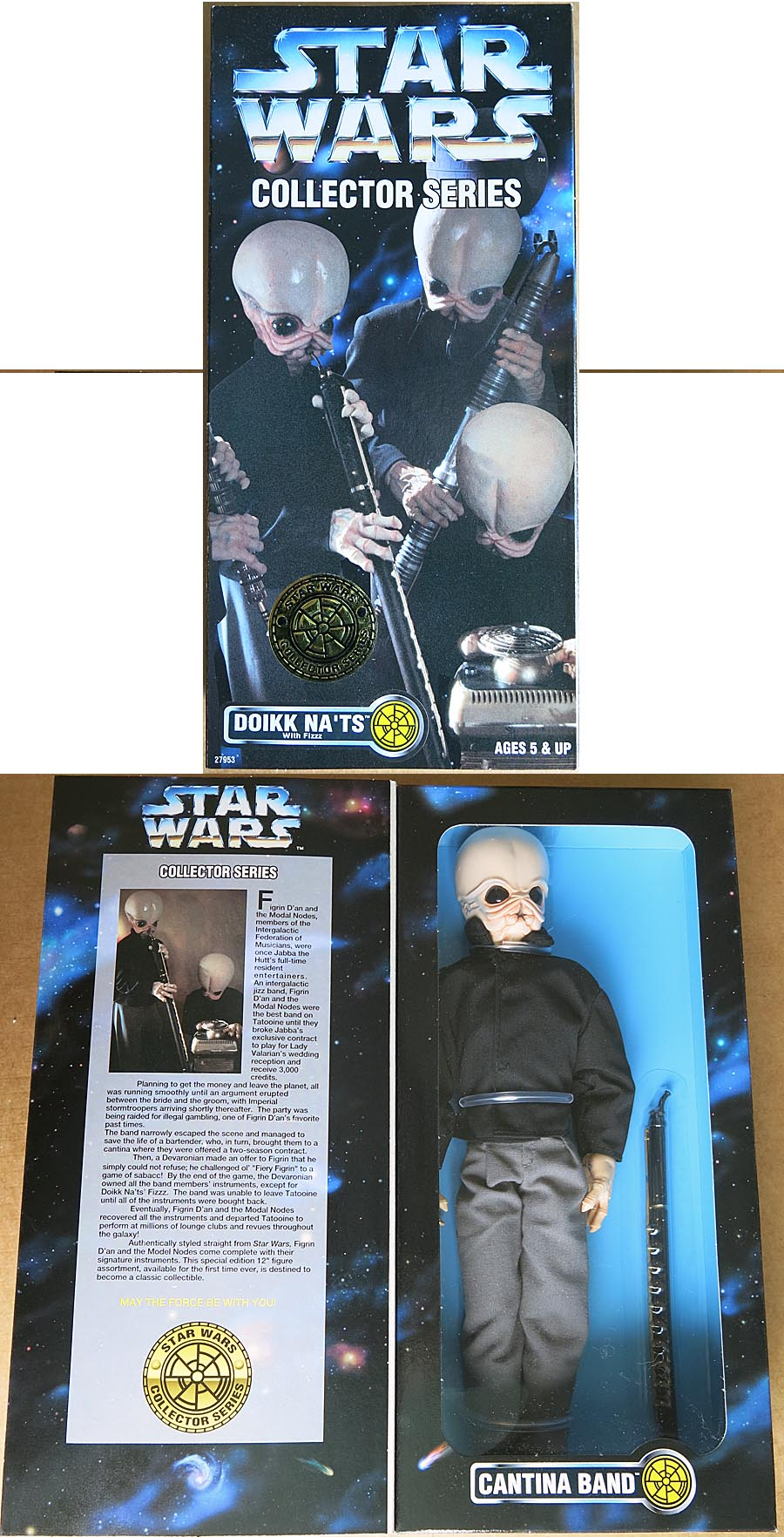 Star Wars Collector Series Cantina Band Doikk Nats 12 inch Boxed Figure