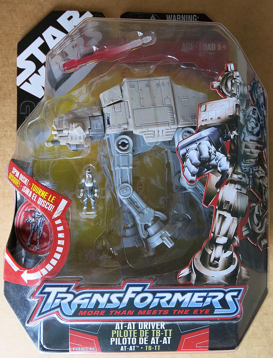 Star Wars Transformers AT-AT Driver Action Figure
