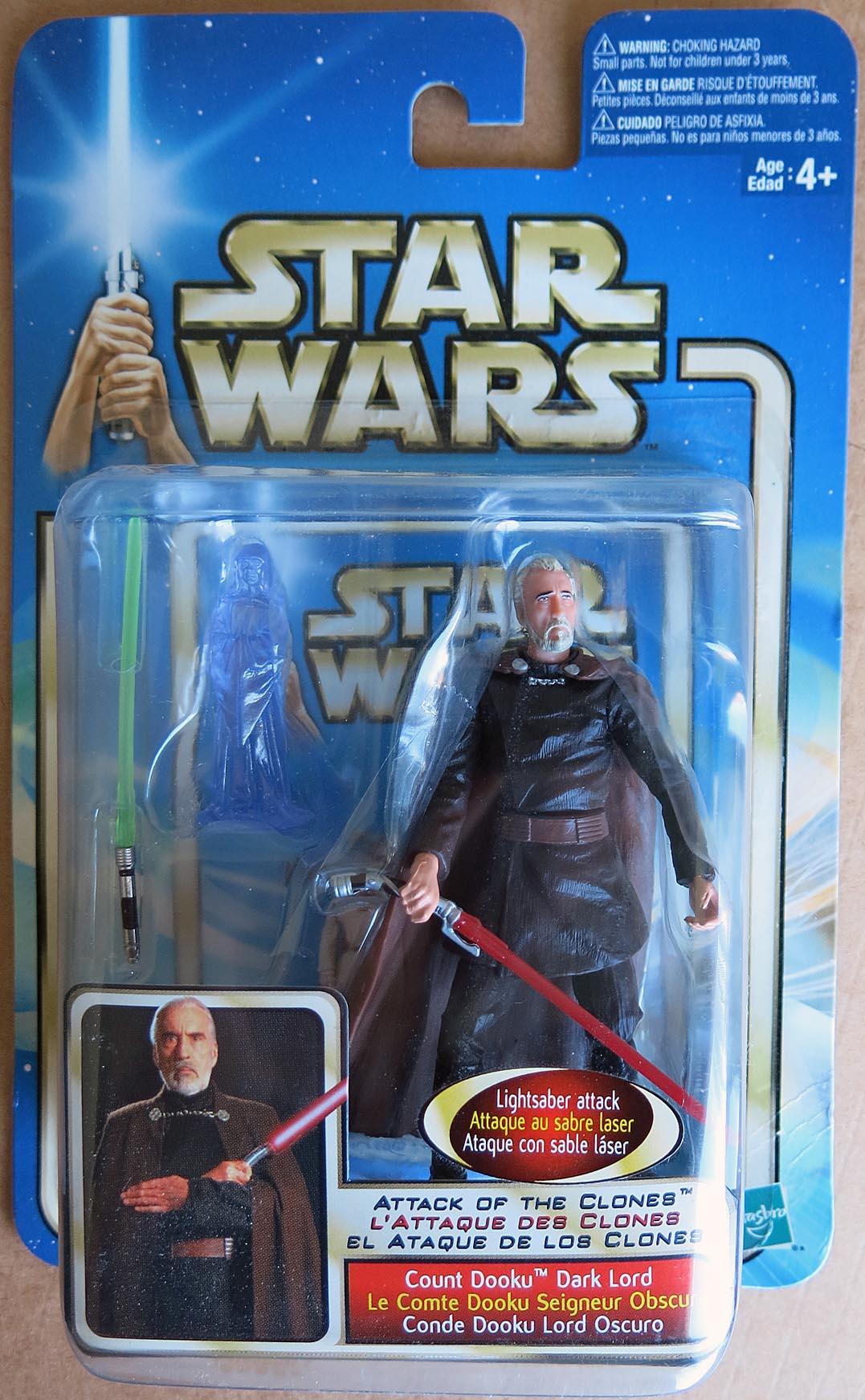 Star Wars Attack of the clones épisode II COMTE DOOKU Dark Lord Figure