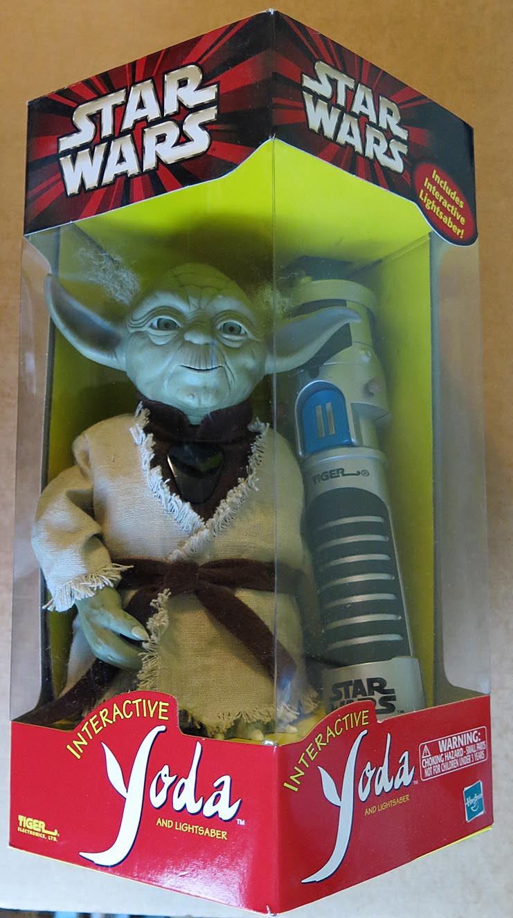 Star Wars Boxed Interactive Yoda With Interactive Lightsaber