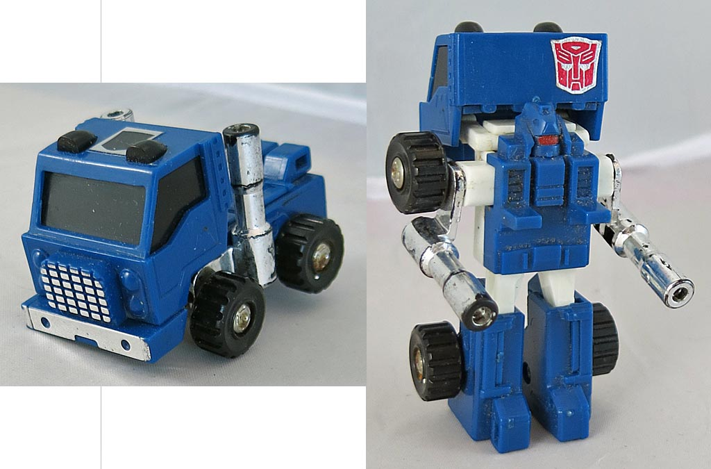 Transformers 1986 G 1 Minibot Pipes (One Wheel missing) (Loose)