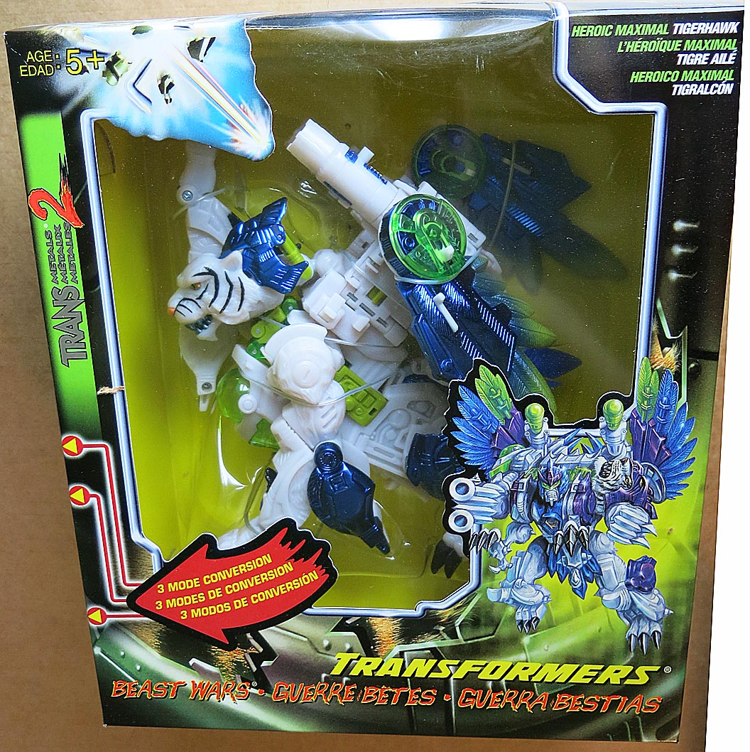 Transformers Transmetals 2 Large Boxed Tigerhawk Boxed Action Figure ( 3 Mode Transformation)